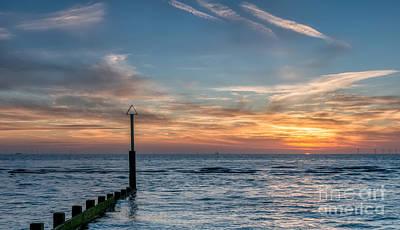 Ocean Sunset Poster by Adrian Evans