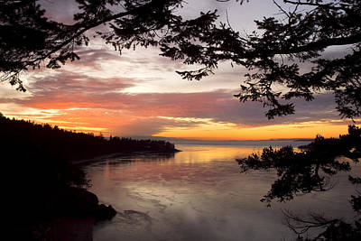 Ocean Sunset Deception Pass Poster