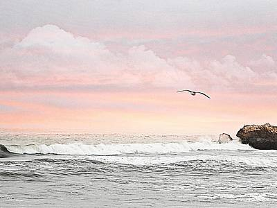 Poster featuring the photograph Ocean Sunset by Kathy Churchman