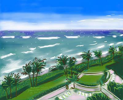 Ocean Trail Beach Poster