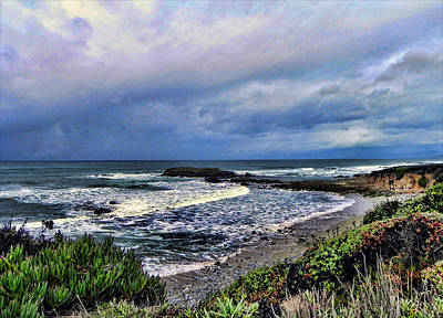 Poster featuring the photograph Ocean View by Kathy Churchman
