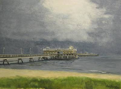 Poster featuring the painting Ocean View Pier by Stan Tenney