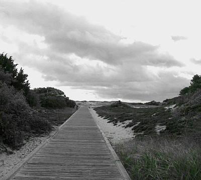 Poster featuring the photograph Ocean Walk Island Beach State Park New Jersey by Pamela Hyde Wilson