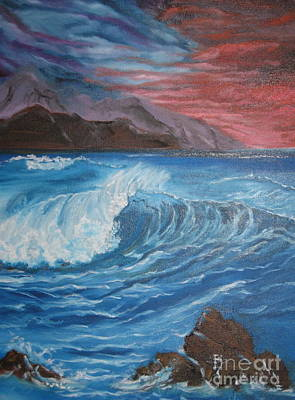 Poster featuring the painting Ocean Wave by Jenny Lee