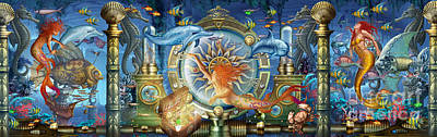 Oceana Triptych Poster by Ciro Marchetti