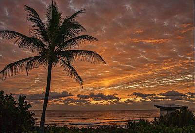 Oceanfront Park Sunrise 2 Poster by Don Durfee