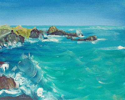 Poster featuring the painting Oceano    by Asha Carolyn Young
