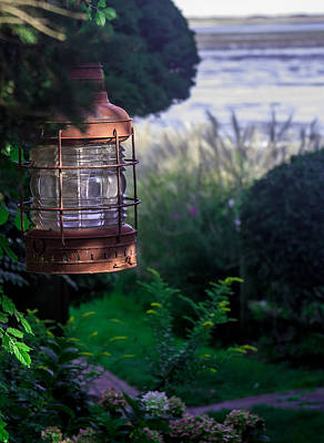 Poster featuring the photograph Oceanside Lantern by Patrice Zinck