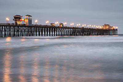 Poster featuring the photograph Oceanside Pier 1 by Lee Kirchhevel