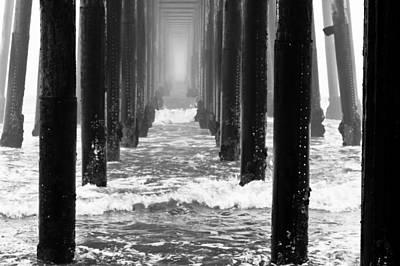 Oceanside Pier In Fog Poster