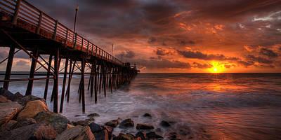 Oceanside Pier Perfect Sunset -ex-lrg Wide Screen Poster