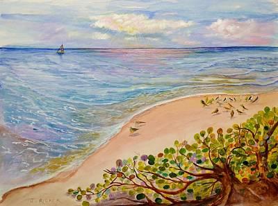 Seaside Grapes Poster
