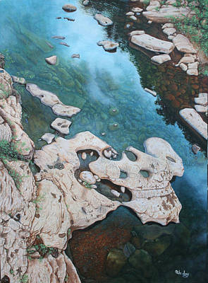 Poster featuring the painting Ocoee River Low Tide by Mike Ivey