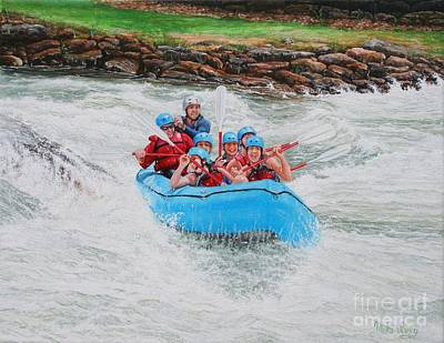 Poster featuring the painting Ocoee River Rafting by Mike Ivey