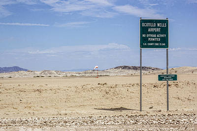 Ocotillo Wells Airport Poster by Photographic Art by Russel Ray Photos
