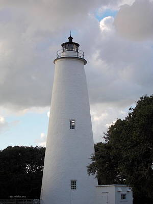 Ocracoke Lighthouse In The Clouds Poster by Tammy Wallace