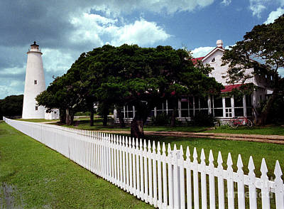 Poster featuring the photograph Ocracoke Lighthouse by Tom Brickhouse