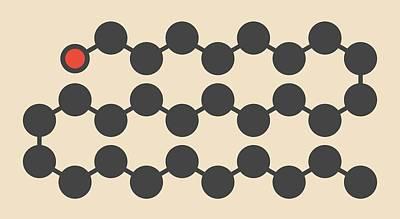 Octacosanol Plant Wax Component Molecule Poster by Molekuul