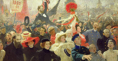 October 17th 1905 Poster by Ilya Efimovich Repin