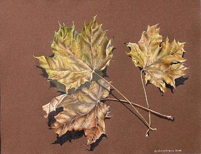 October Leaves Poster by Gina Gahagan