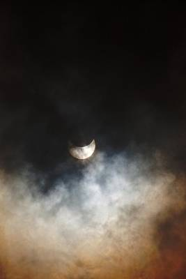 October Partial Solar Eclipse Poster by Melanie Lankford Photography