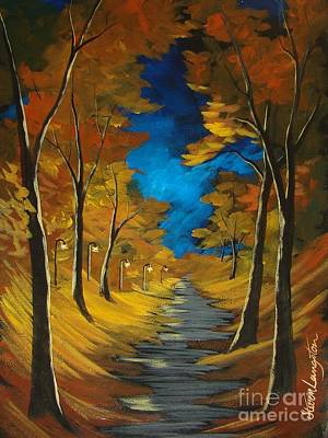 Poster featuring the painting October Stroll by Steven Lebron Langston