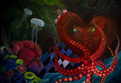 Octopus Heart Poster by Adria Trail