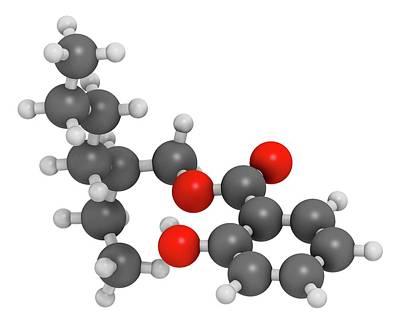 Octyl Salicylate Sunscreen Molecule Poster by Molekuul