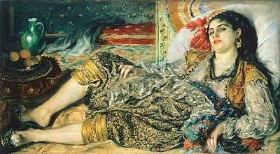 Odalisque An Algerian Woman Poster by Pierre Auguste Renoir