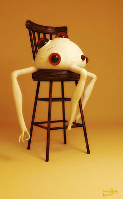 Poster featuring the digital art Oddball by Matt Lindley