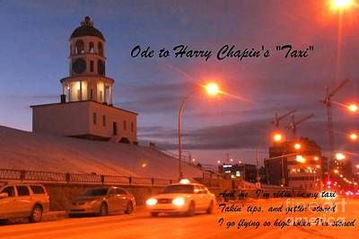 Ode To Harry Chapins Taxi Poster by John Malone