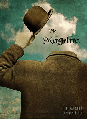 Ode To Magritte Poster by Jill Battaglia