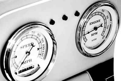 Odometer And Tachometer Of An Antique Car Poster by Celso Diniz