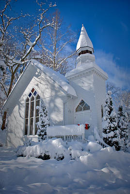 Oella Snow Church Poster