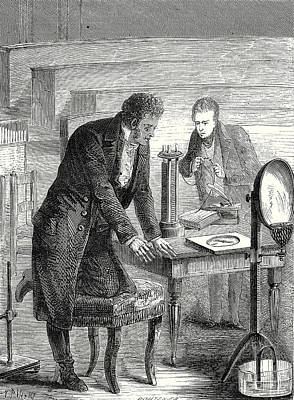 Oersted Discovers The Deviation Of A Magnetic Needle Poster