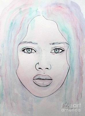 Poster featuring the mixed media Of Colour And Beauty - Blue by Malinda Prudhomme
