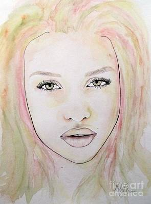 Poster featuring the mixed media Of Colour And Beauty - Pink by Malinda Prudhomme