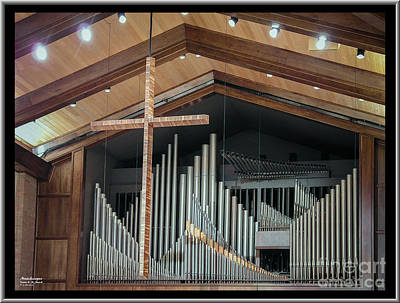 Poster featuring the photograph Of The Cross And Pipes by Karen Musick
