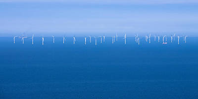 Off-shore Wind Farm Poster by Jane McIlroy