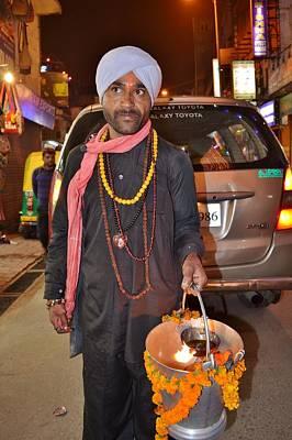 Offerings To Sani - Saturn - Pahar Ghanj Market - New Delhi Poster