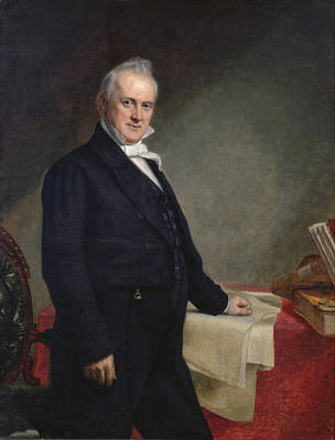 Official Presidential Portrait Of James Buchanan Poster by Celestial Images