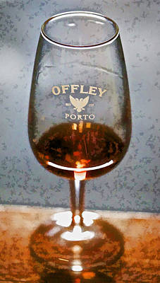 Offley Port Wine Glass Poster by David Letts