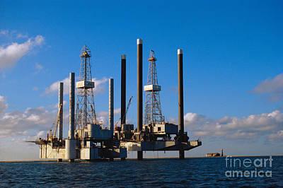 Offshore Oil Drilling Platform Poster