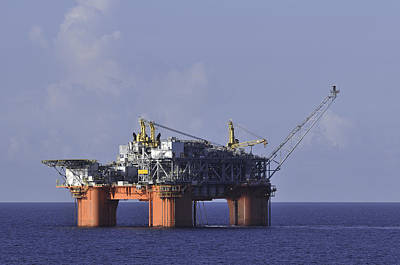 Offshore Production Platform Poster
