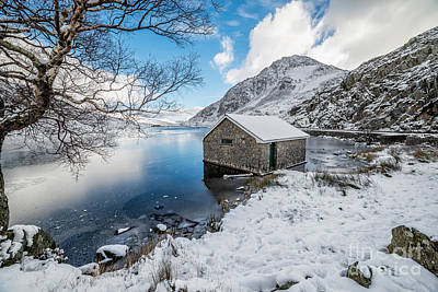 Ogwen Boat House Poster by Adrian Evans
