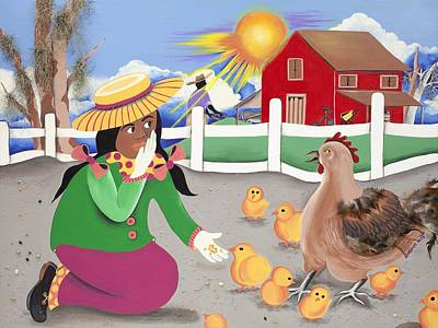 Oh Chick Poster by Patricia Sabree