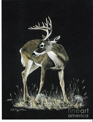 Poster featuring the painting Oh Deer.....listen by DiDi Higginbotham