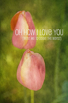 Oh How I Love You Poster by Bonnie Bruno
