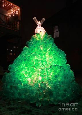 Oh Tannen Bottle Green Plastic Soda Bottle Christmas Tree Card Poster by Adam Long