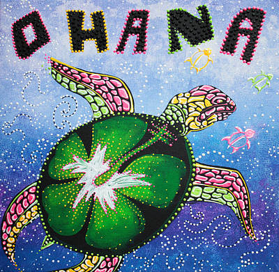 Ohana Means Family Poster by Laura Barbosa